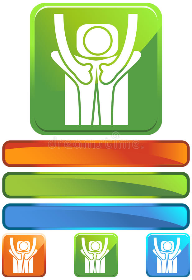 Download Green Square Icon - Back Treatment Stock Vector - Image: 10203158