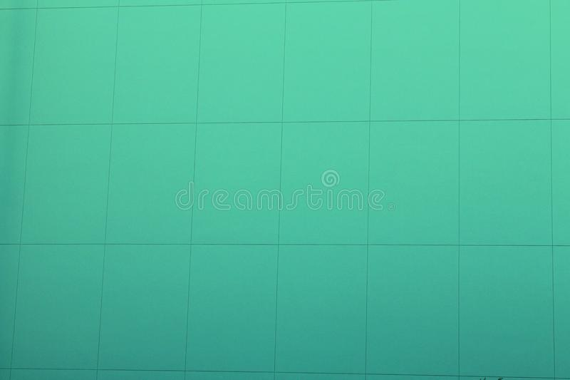 Green Square Pattern Wall Texture stock photos