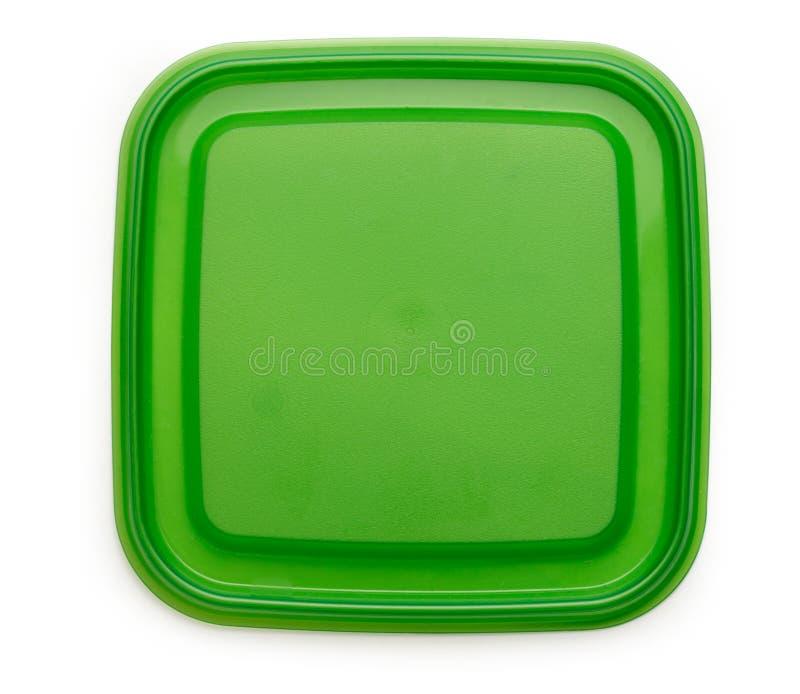 Green square plastic cover stock photos