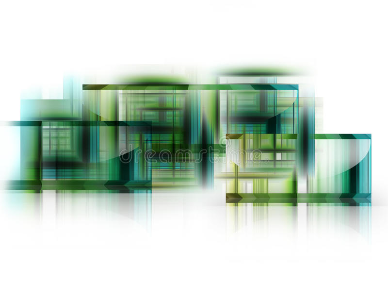 Green Squares Royalty Free Stock Images