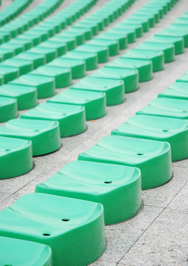 Download Green stadium seats stock photo. Image of simple, green - 25645110