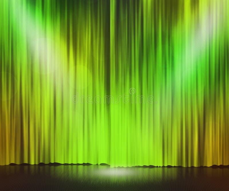 Green Stage Spotlight Background stock illustration