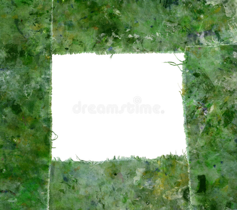 Green stained border royalty free stock image