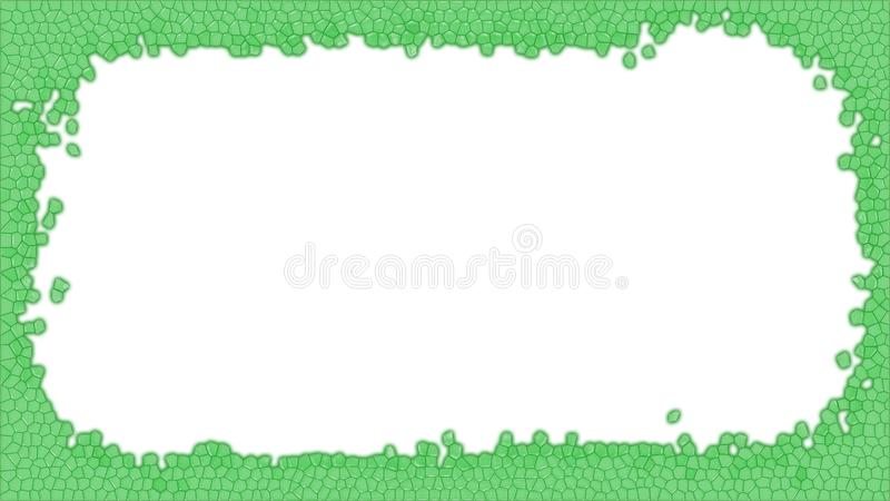 Green Stained glass frame illustration stock images