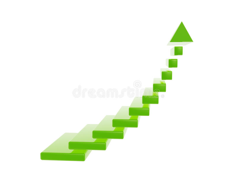 Merveilleux Download Green Stair Steps Grow Up Arrow Stock Illustration   Illustration  Of Business, Green: