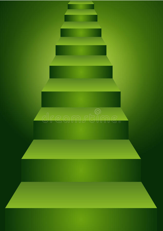 Free Green Stairs Up Stock Images - 35181624