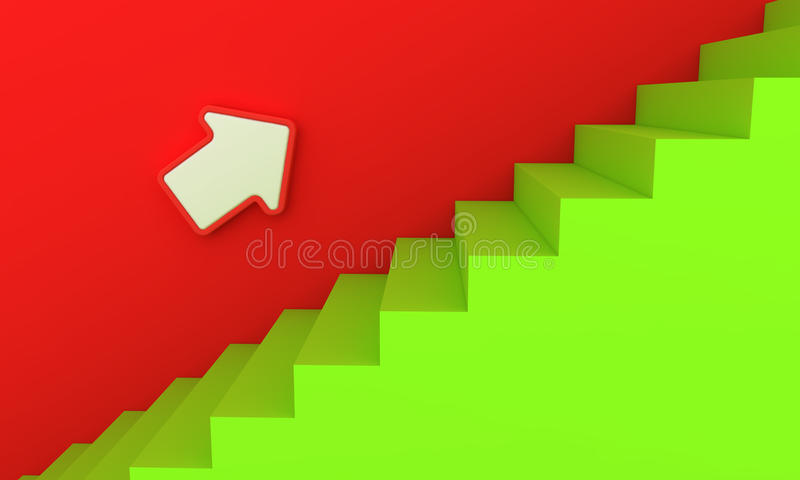 Download Green stairway stock illustration. Illustration of right - 21024729