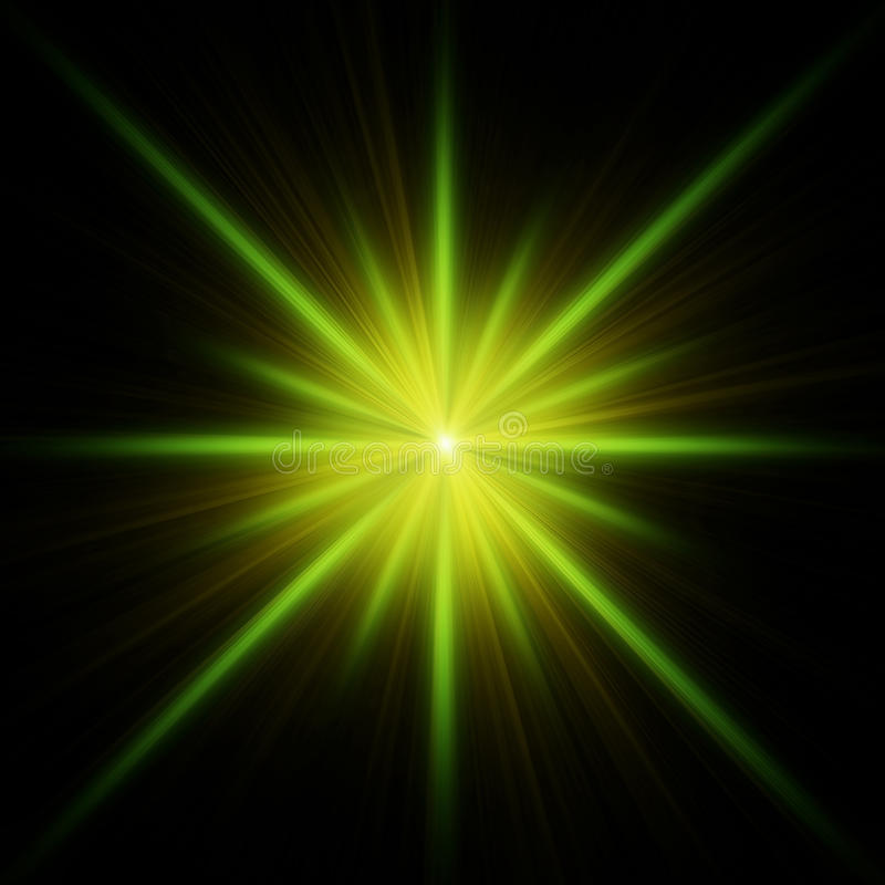 Green star flash with spikes royalty free illustration