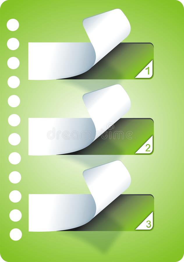 Green stickers royalty free stock photography