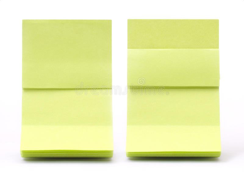 Green sticky. Note with shade stock photo