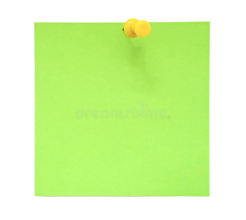 Green sticky note royalty free stock photo