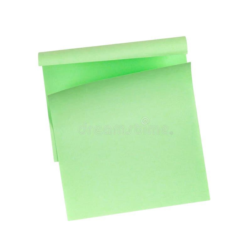 Green Sticky Note stock photography