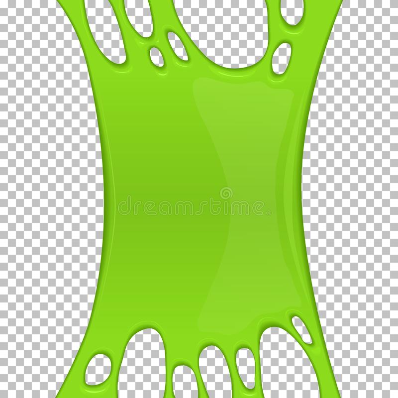 Green sticky slime banner with copy space vector illustration