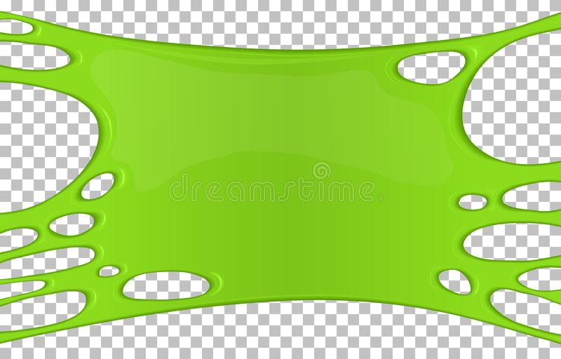 Green sticky slime banner with copy space stock illustration
