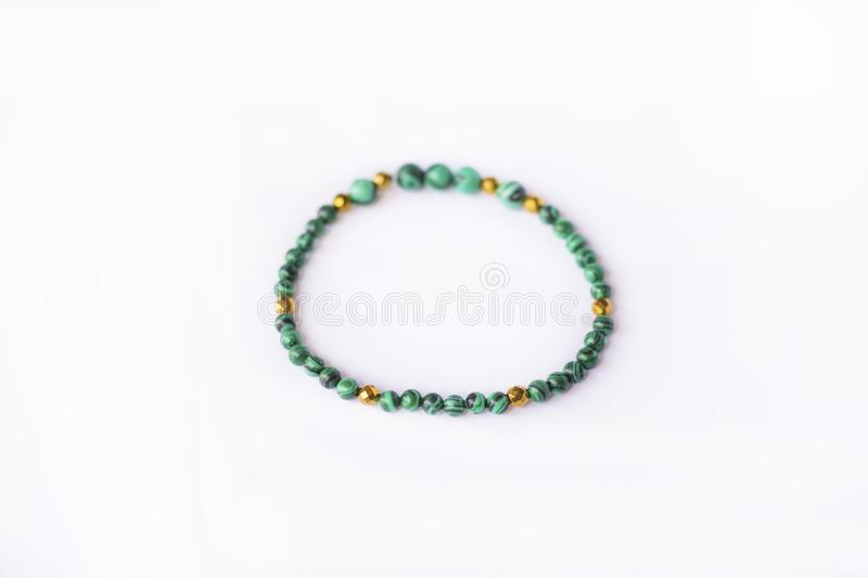 green stone bracelet royalty free stock photography