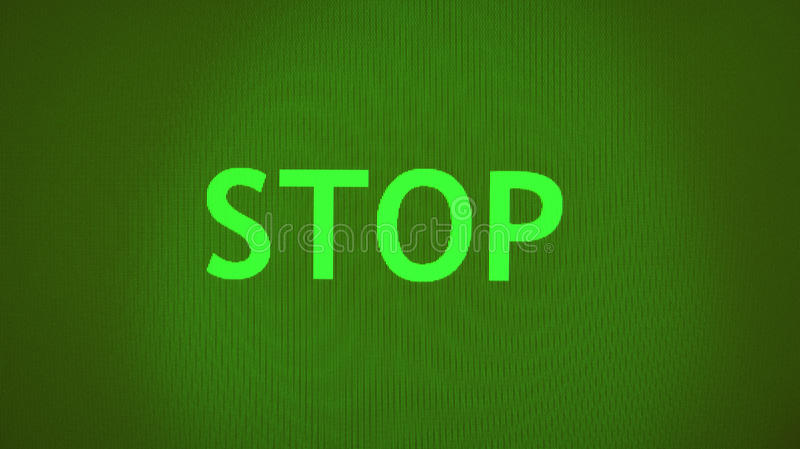 Green Stop Sign Stock Photo