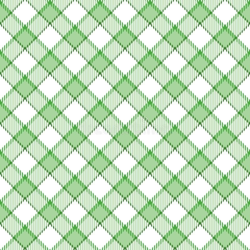 Green Stripe Plaid royalty free illustration