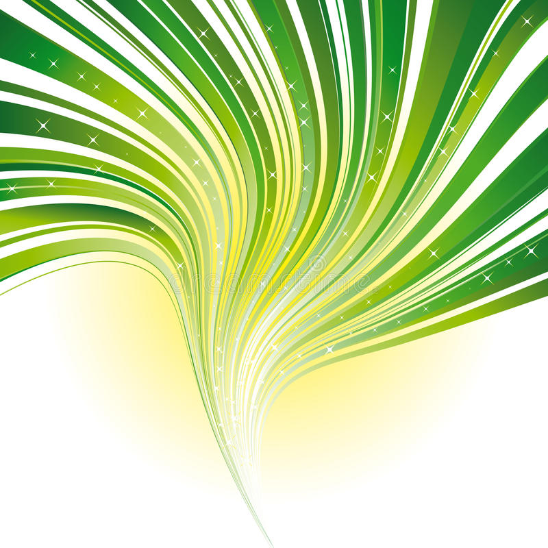 Green Stripe Swirl Background With Stars Royalty Free Stock Photography