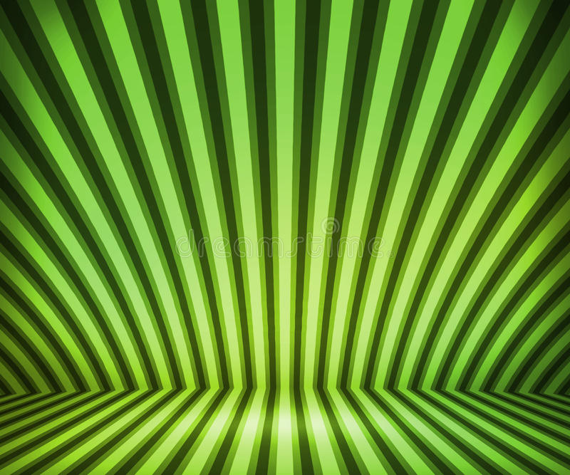 Green Striped Background Show Room vector illustration