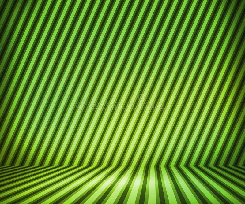 Green Striped Show Room vector illustration