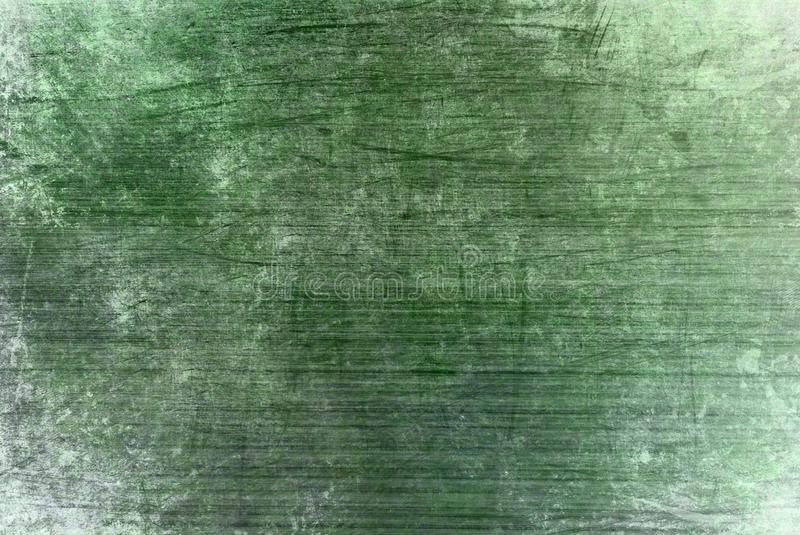 Rusty Grunge Dark Green Cracked Distorted Decay Old Abstract Canvas Painting Texture Pattern for Autumn Background Wallpaper. Green Strokes Brush Scratch royalty free stock images