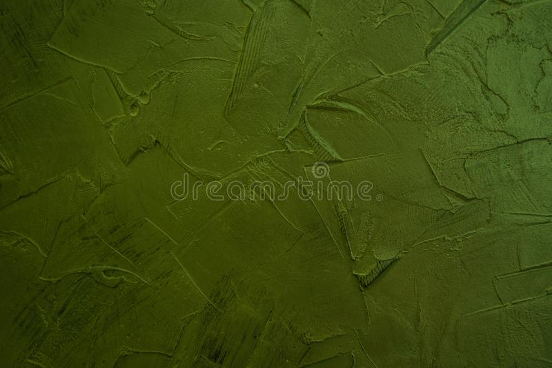 Green structural plaster. Green Walls. Vintage creative background. royalty free stock image