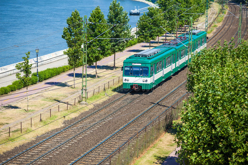 Download Green Suburb Train In Budapest Stock Image - Image: 33238935
