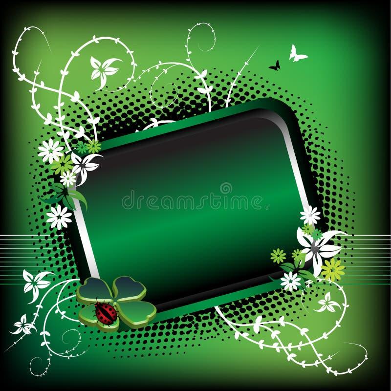 Green summer frame stock image