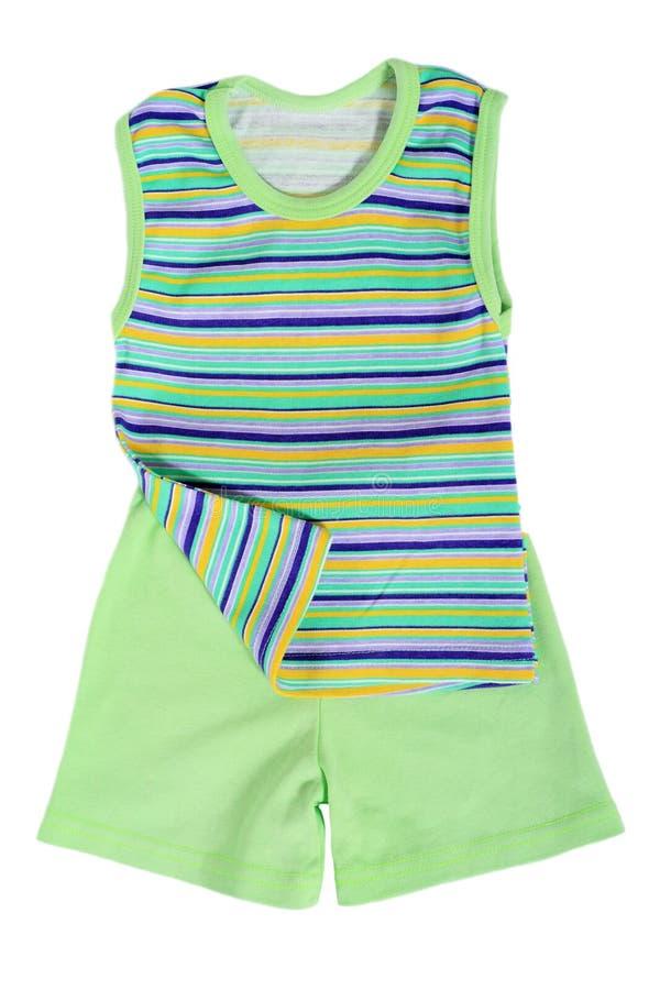 Green Summer Top And Shorts Stock Photos