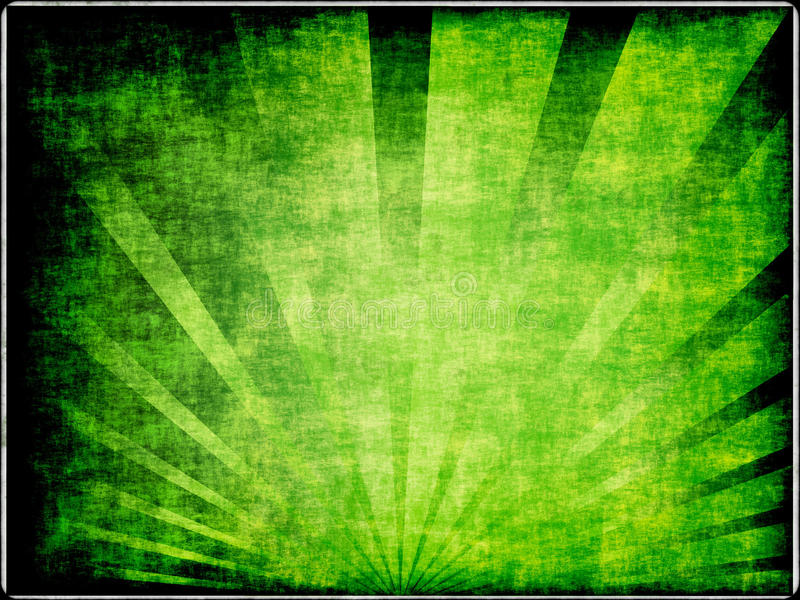 Green sunburst stock illustration