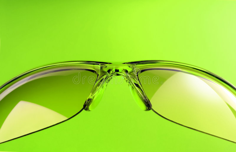 Green sunglasses royalty free stock images