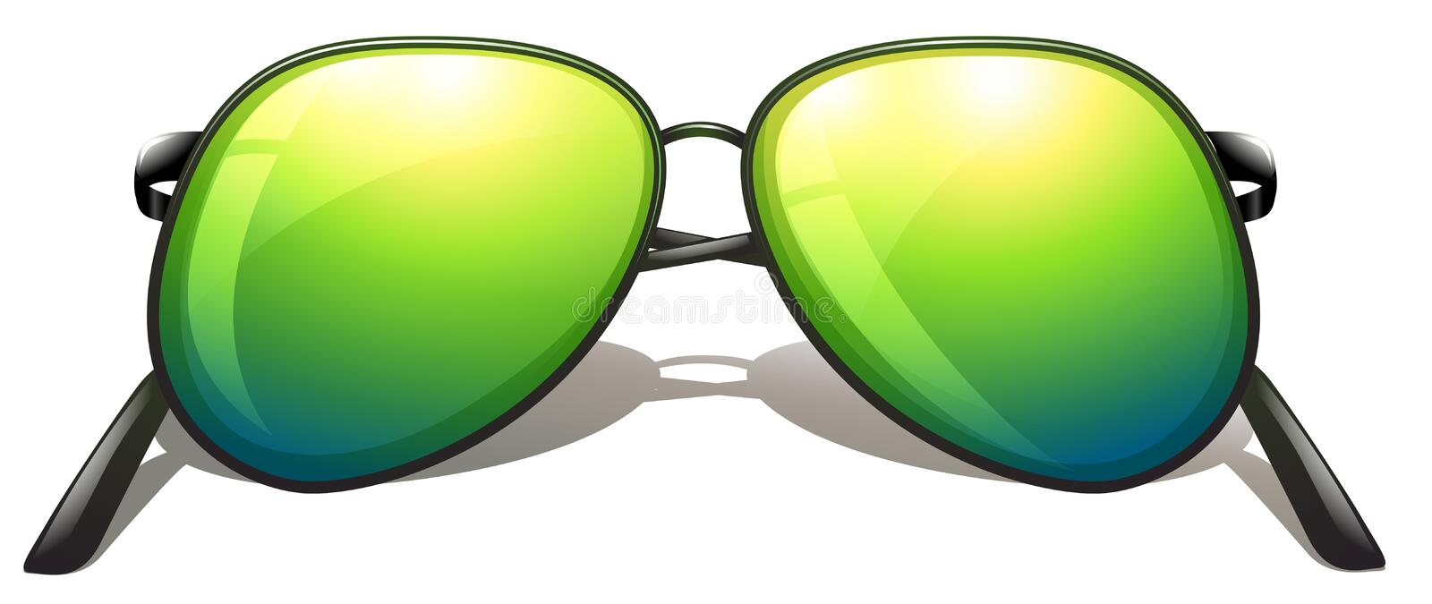 Download Green sunglasses stock vector. Image of drawing, joint - 43659800
