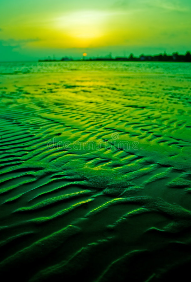 Download Green sunset stock photo. Image of landscape, sunset, green - 2906250