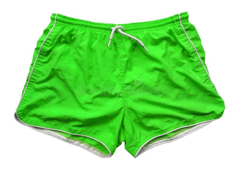 Swimming shorts - green royalty free stock photography
