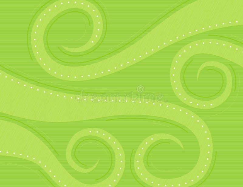 Green Swirls. Background, spring colors stock illustration