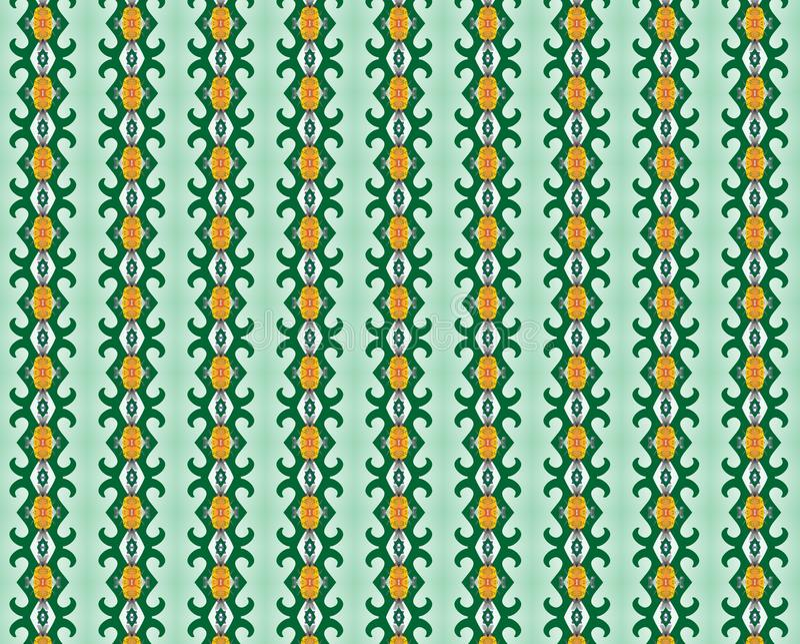 Green swirls and golden hues background. Green swirls and geometries combined with golden hues for elegant backgrounds vector illustration