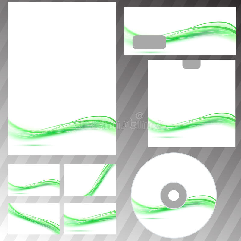 Green swoosh line concept corporate template royalty free illustration