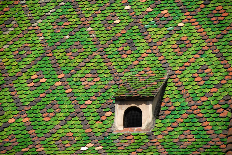 Download Green symmetrical roof stock photo. Image of patterned - 3851444