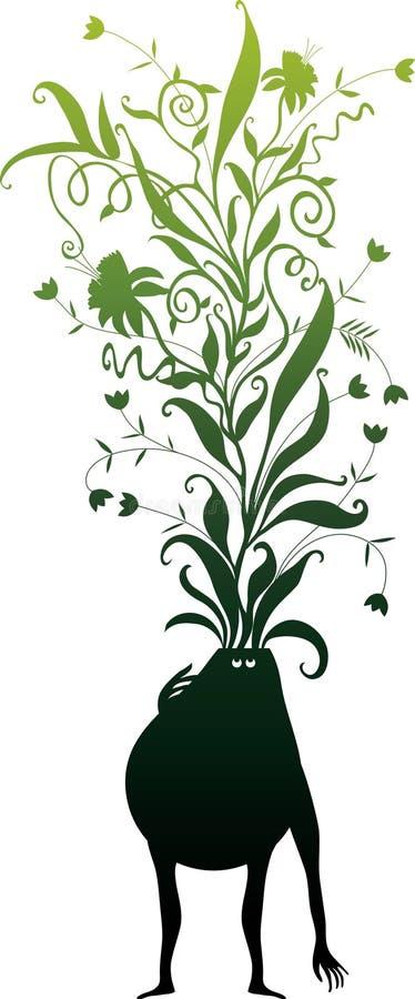 green tänker royaltyfri illustrationer