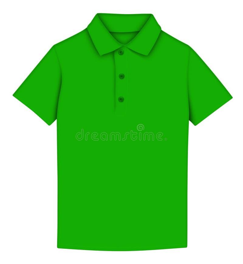 T-shirt polo - green stock illustration