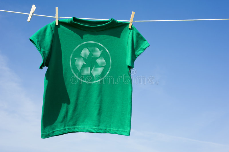 Download Green T-Shirt With Recycle Symbol Stock Photo - Image: 6801652
