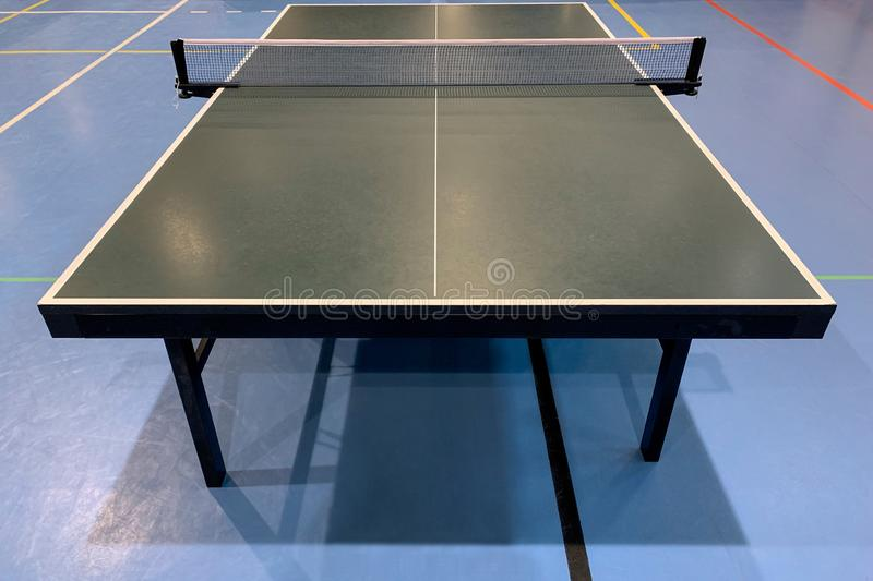 Green table tennis table close-up royalty free stock images