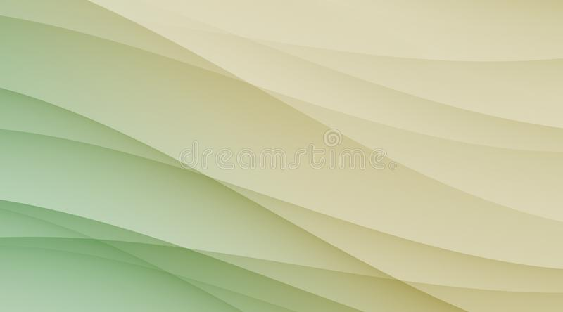 Green tan and ivory smooth diagonal curves business background template backdrop. Abstract geometric smooth diagonal curves business background template pattern stock illustration