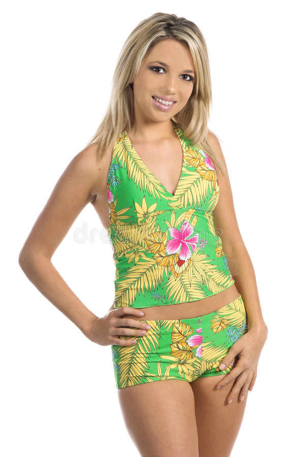 Download Green Tankini stock photo. Image of bikini, people, green - 460702