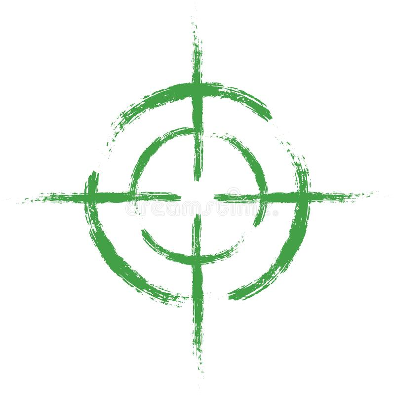 Green target on isolated white background. Vector element, illustration, icon for your design. royalty free illustration