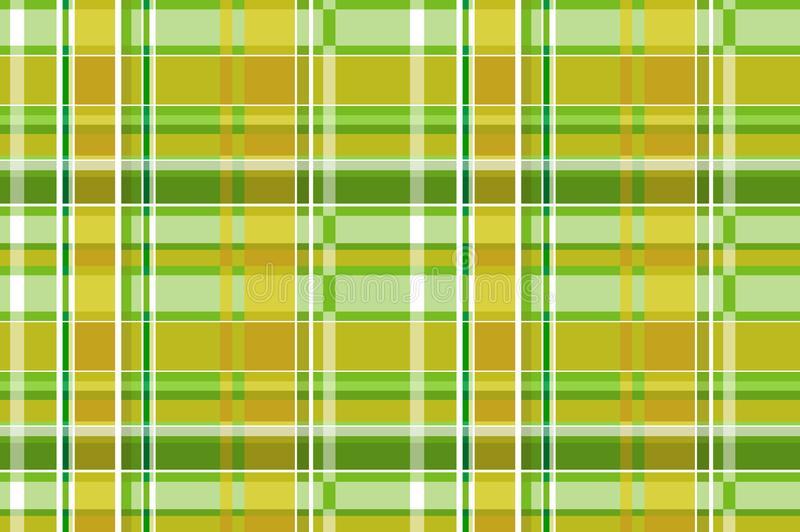 Green tartan plaid Scottish seamless patternTexture from plaid tablecloths clothes shirts, dresses, paper, bedding, blankets and stock illustration