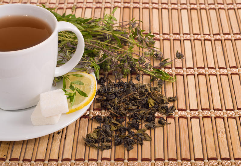 Download Green tea stock image. Image of green, full, bamboo, clay - 25838827
