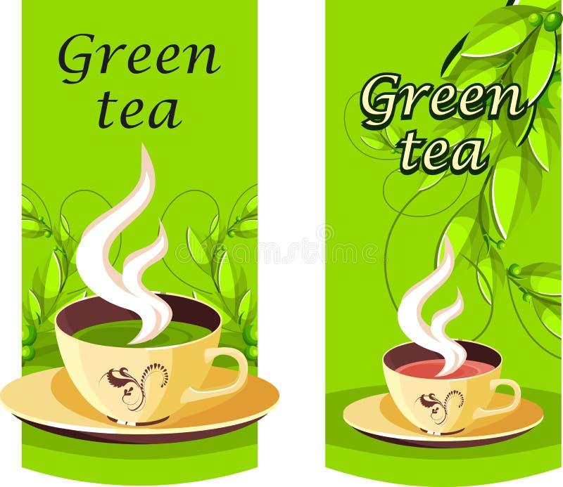 Download Green tea stock vector. Image of illustration, food, coffee - 25894073