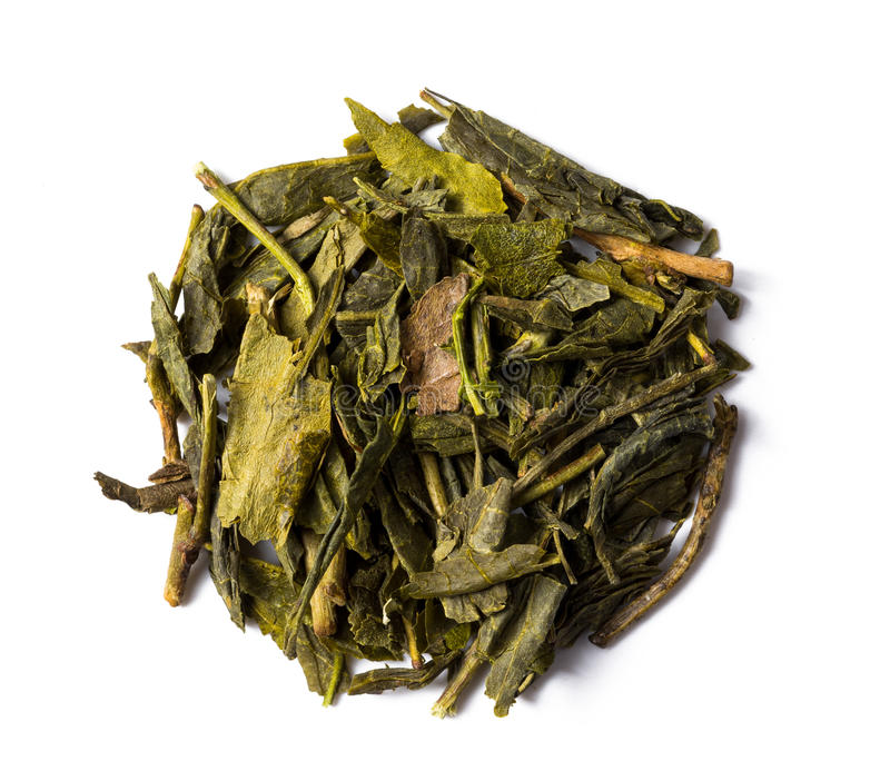 Green tea bancha japanese stock image