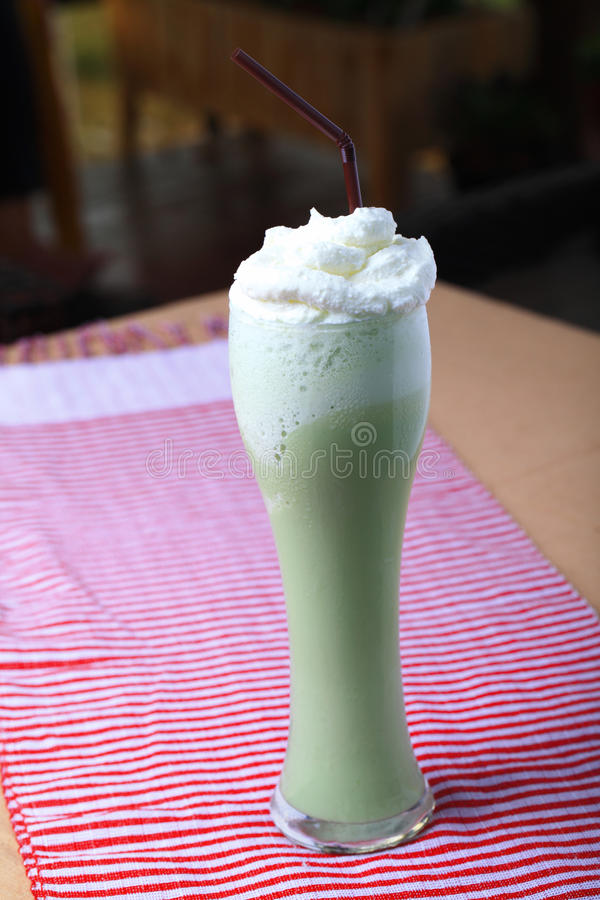 Download Green tea blended stock photo. Image of frappe, cream - 30774576